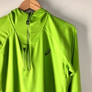 Asics 1/4 Zip Green Pullover